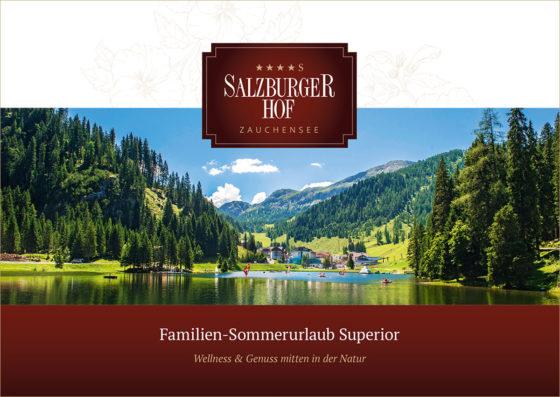 4 Sterne Superior Hotel Salzburger Hof in Zauchensee, Sommerbroschüre 2018