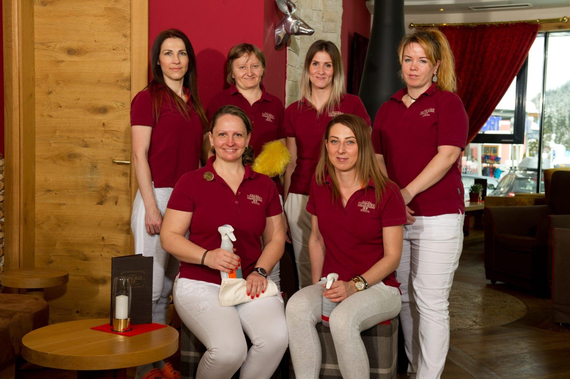 Urlaubsspezialisten, Mitarbeiter, Etage, Zimmermädchen, Salzburgerhof, Zauchensee