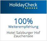 Holidaycheck Weiterempfehlung - 4 Sterne Superior Hotel Salzburger Hof
