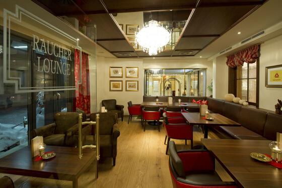 Raucher-Lounge im Hotel Salzburger Hof