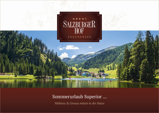 4 Sterne Superior Hotel Salzburger Hof in Zauchensee, Sommerbroschüre 2016