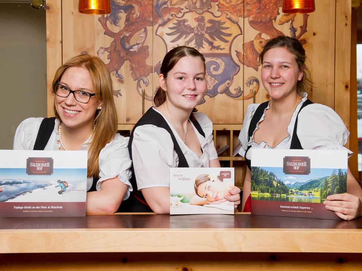 Gastgeber & Team im 4 Sterne-S Hotel in Zauchensee